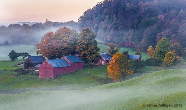 vermont farm scene