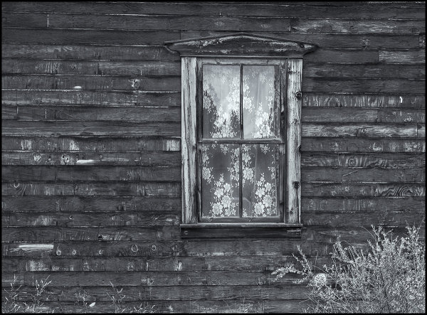 a weathered house