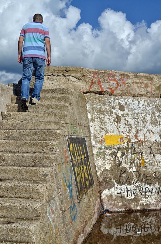 Escalier pour l'échafaud