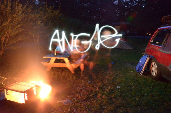 """Angie"" lightwriting"