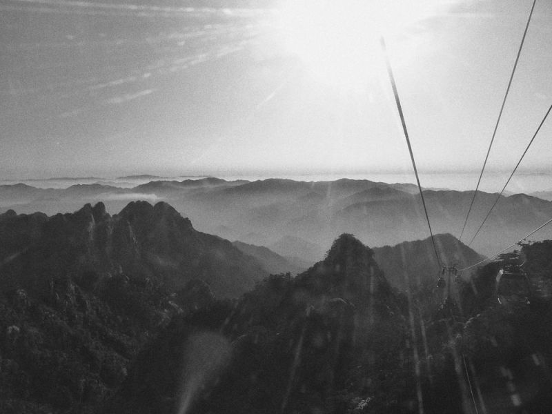 Huangshan Mountain, view from a cable car