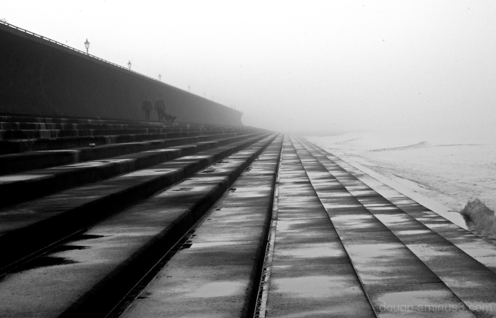 Walk along the sea wall