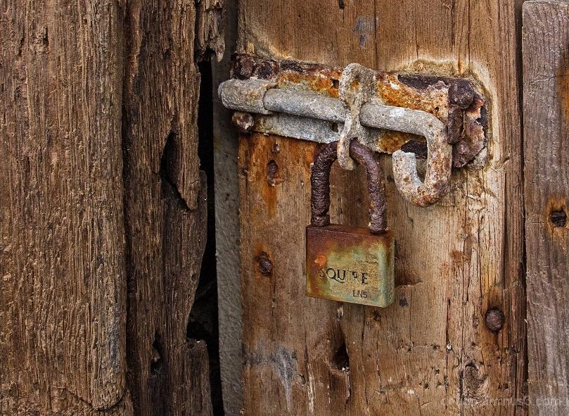 pad-lock door