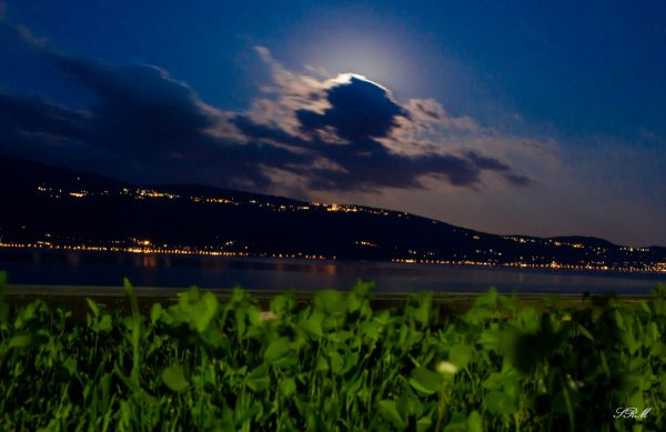 Como lake+night+Italy+moon+river