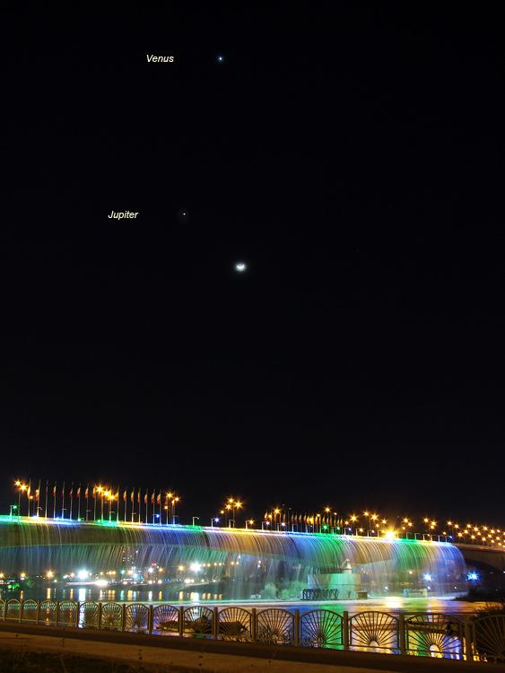 conjunction of the Moon,Venus and Jupiter