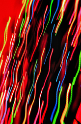 Christmas Tree Lights Abstract