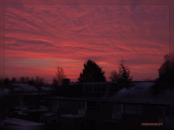 Zonsopkomst einde winter? (sunrise end of winter?)