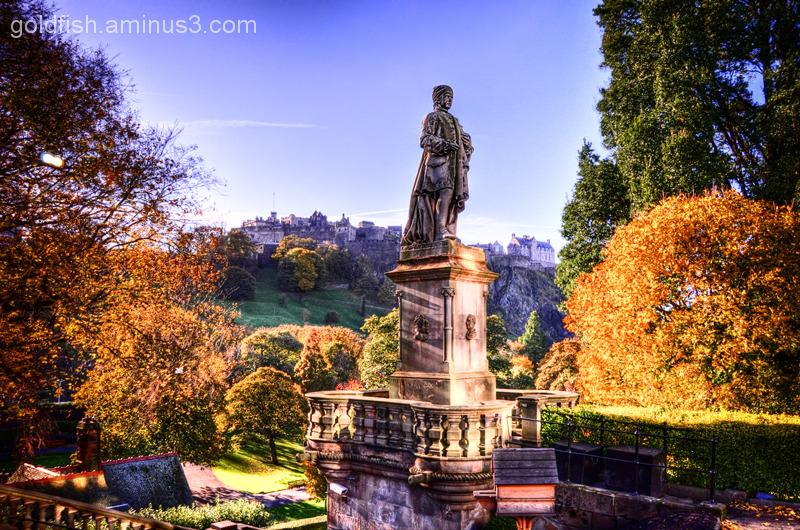 Allan Ramsay Statue, Princes St. Gdns, Edinburgh.
