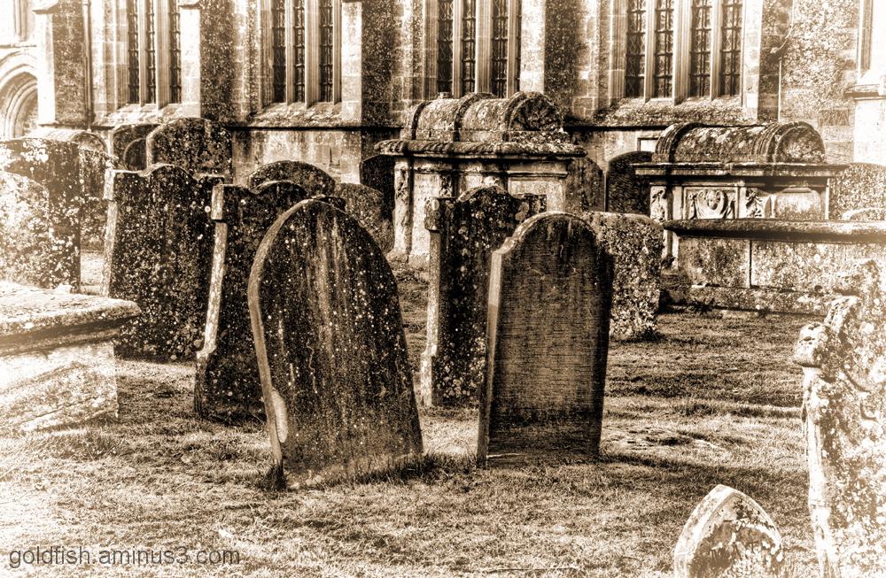 Gravestones at St John the Baptist, Burford 2/2