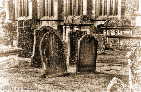 Gravestones at St John the Baptist, Burford 2/2