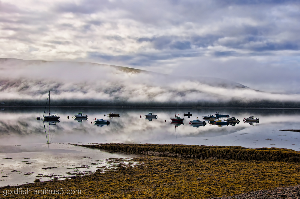Morning Mist and boats on Loch Fyne 1/6
