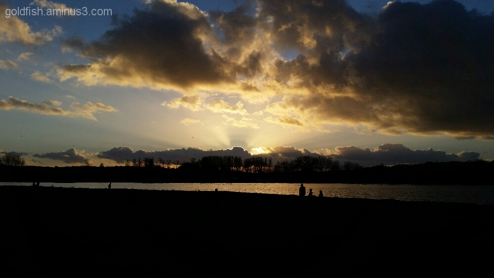 Sunset on Port Meadow