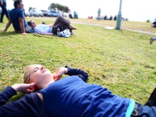 Relaxing in Byron Bay