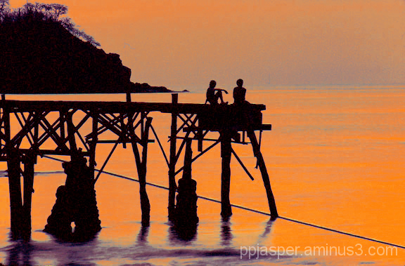 2 Boys on a Pier - Costa Rica