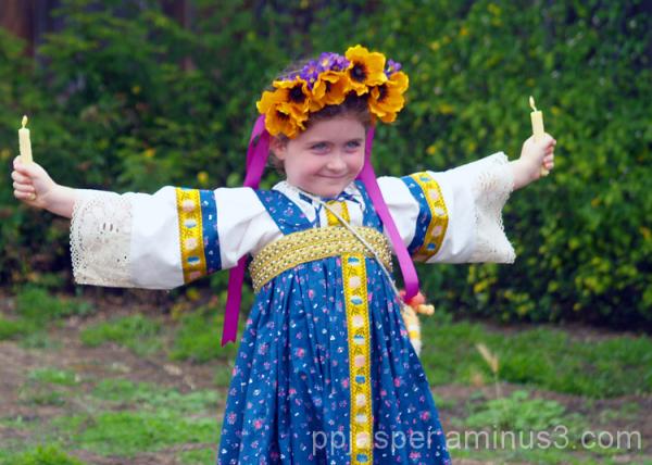 Girl in Period Russian Costume
