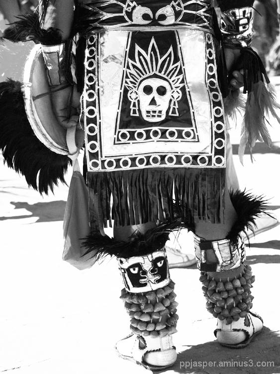 DOD Skull Man Aztec Dancer - San Miguel A.
