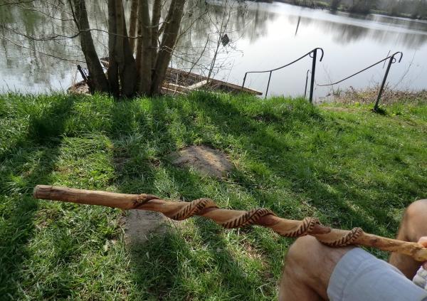 Le bâton de randonnée sur le Loir