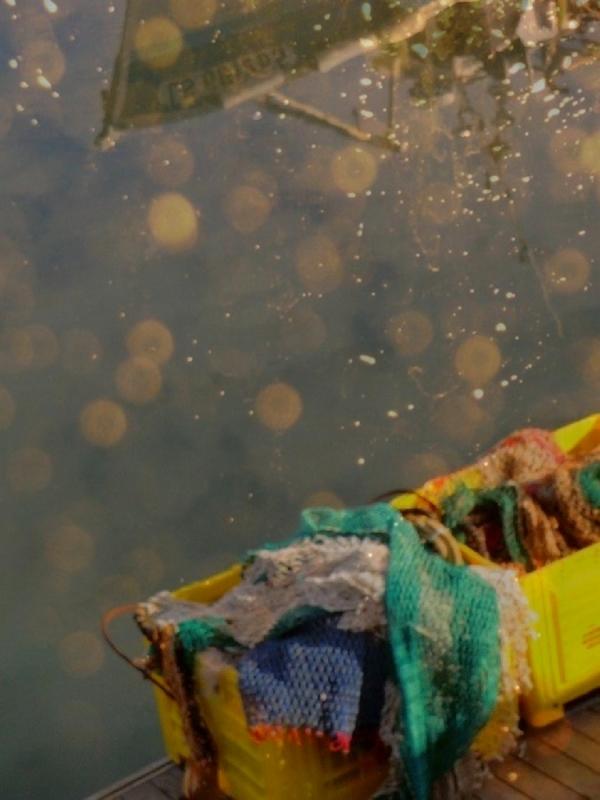 Vague inspiration scintille sur les flots agités