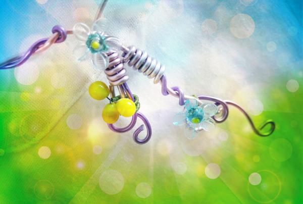La vie est comme une fleur qui rayonne de bonheur