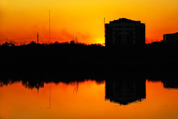 Fiery sunset *