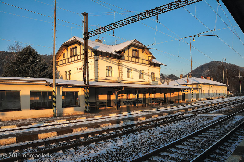 Karlstejn Station, Bohemia, Czech Republic