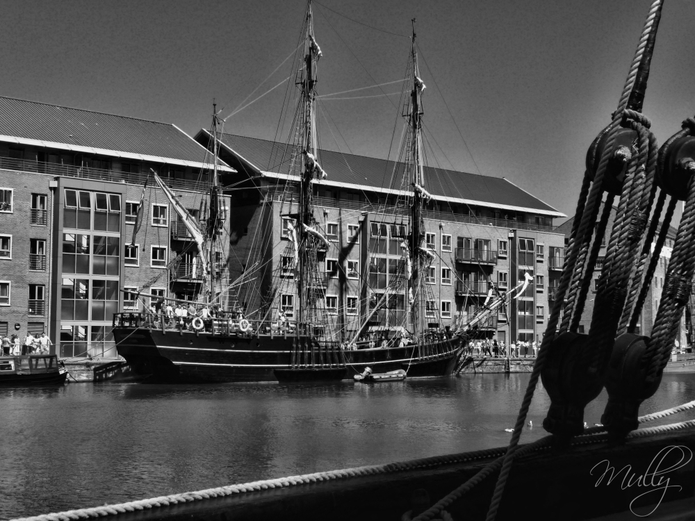 Tall ship festival at Gloucester docks