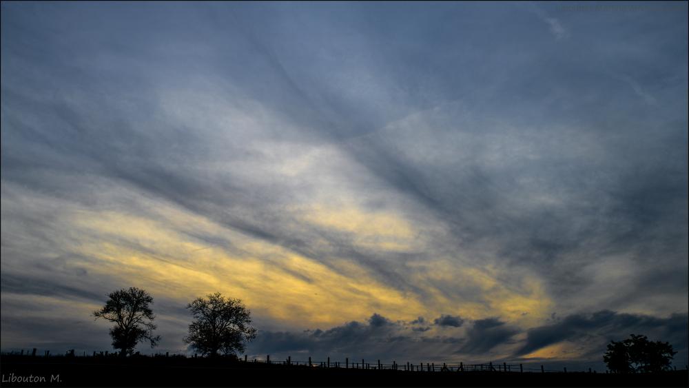 Quand le ciel  se prend pour un peintre.