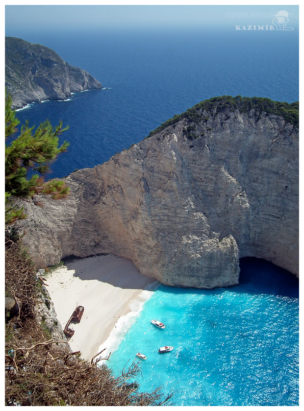 beach, Greece, Zakynthos