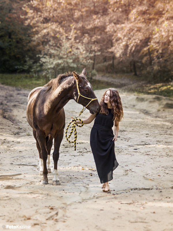 Walking with the horse
