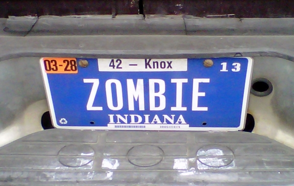 zombie license plate