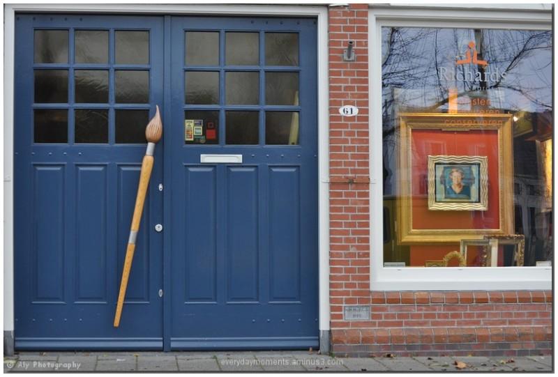 Shop,painting,art, Nikon D5000,Groningen,excursie