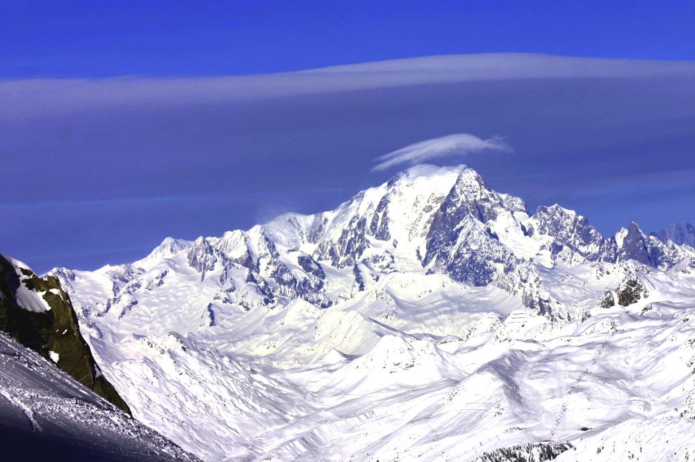 Le Mont Blanc et son chapeau
