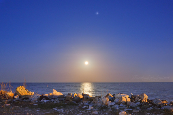 Moonrise  and Jupiter