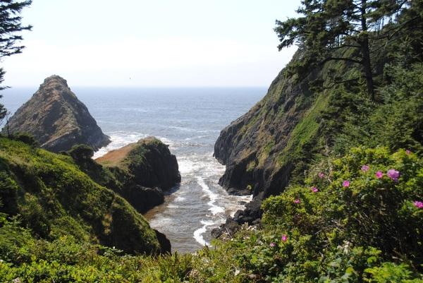 Inlet on the Oregon Coast