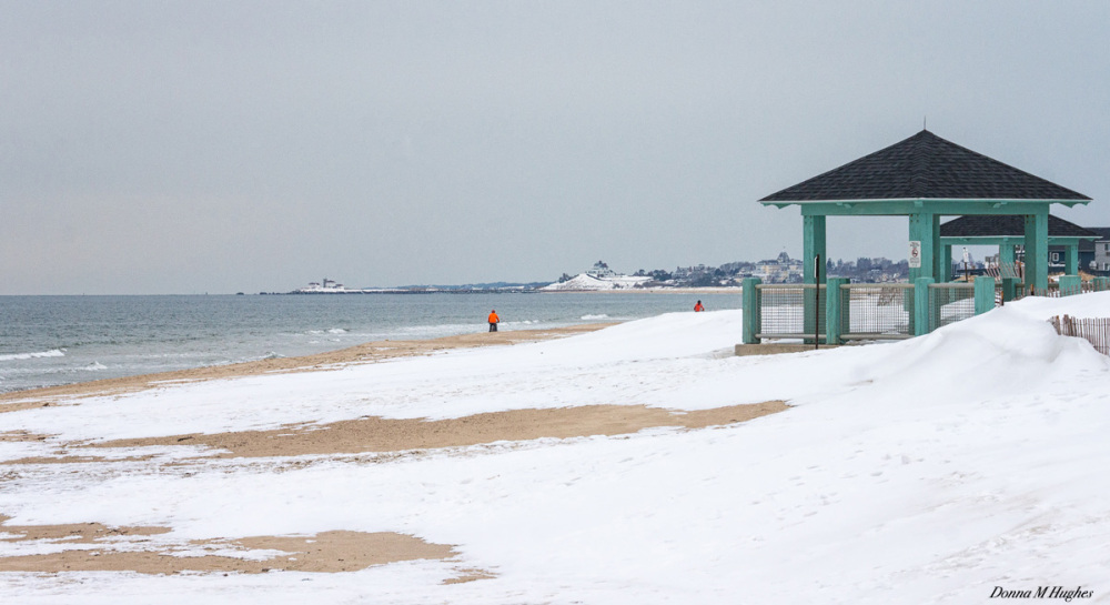 Misquamicut Beach on a Cold, Winter Day