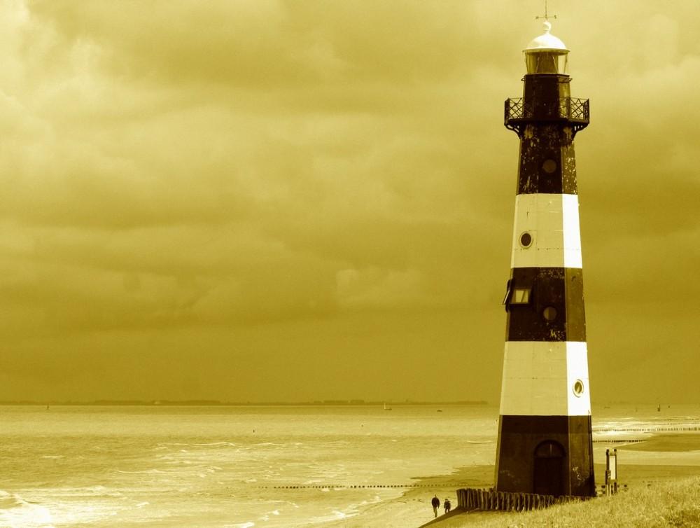 The old lighthouse of Breskens ( Netherlands )