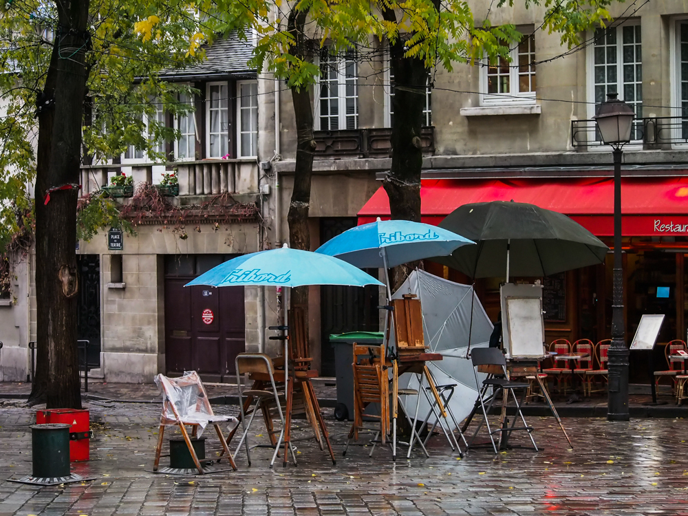umbrellas at Montmartre