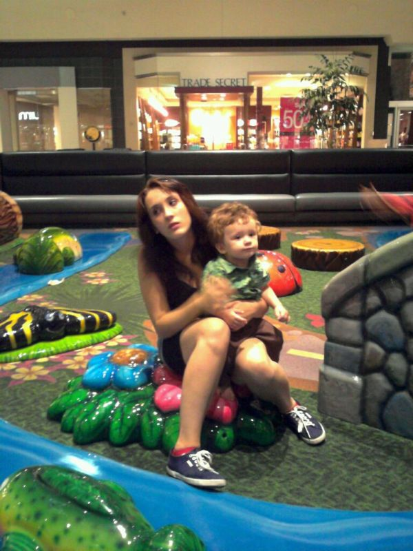 At the play place at the mall...Jack LOVED it.