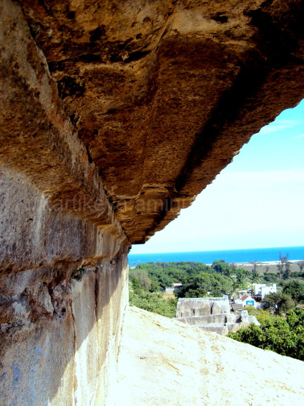 View from the top of the Cave Temple, Mammalapuram