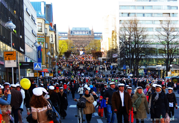 The procession