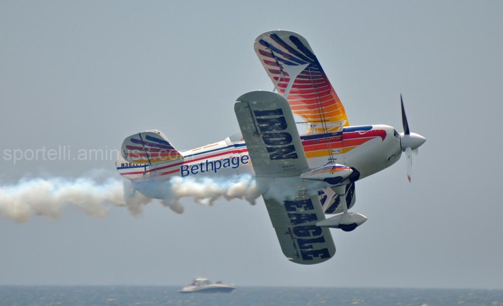 bi-plane at air show