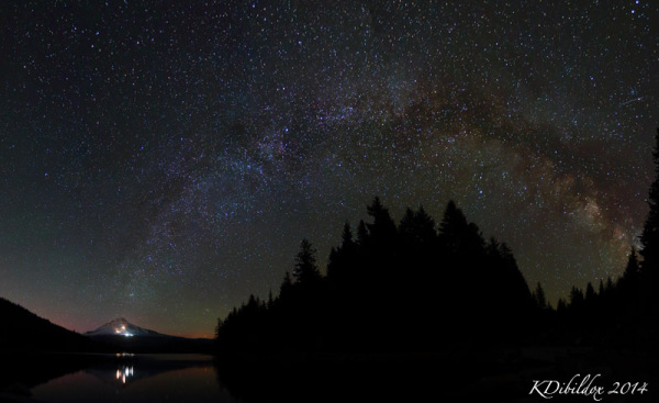 Milky Way over Mt Hood and Trillium Lake
