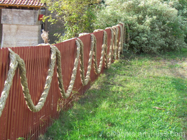 Decorated fence!