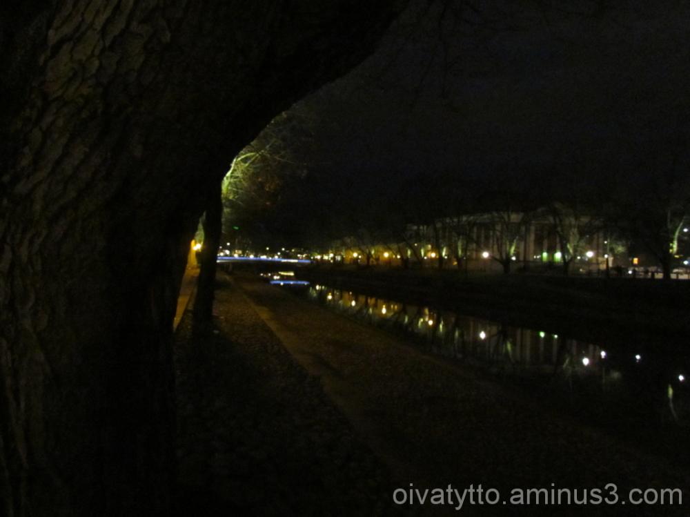 The River Aura evening light!