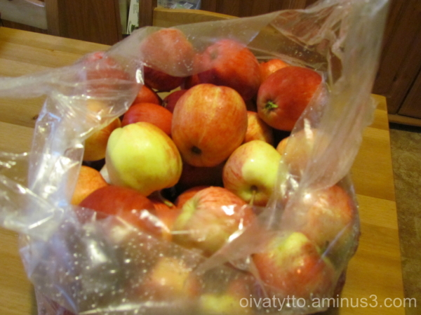 The whole bag of apples!