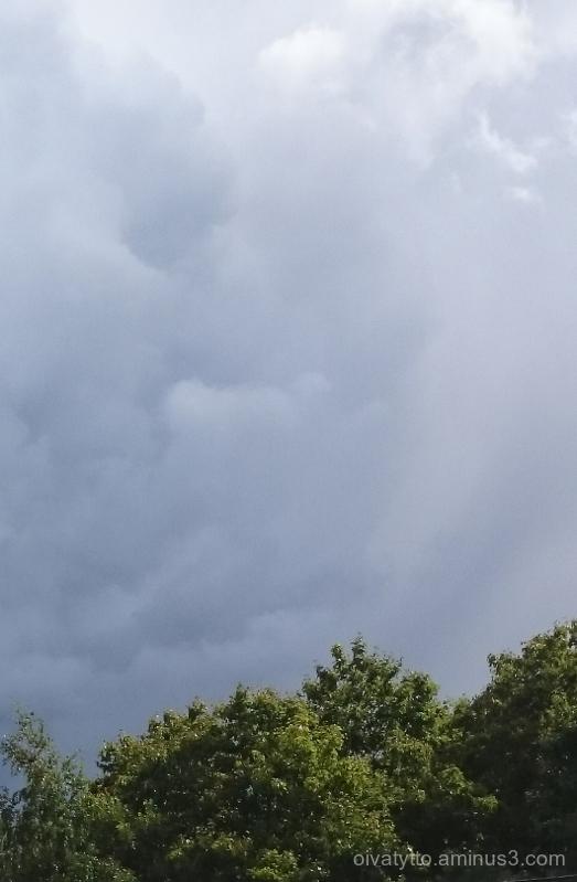 Soon the rain arrives.