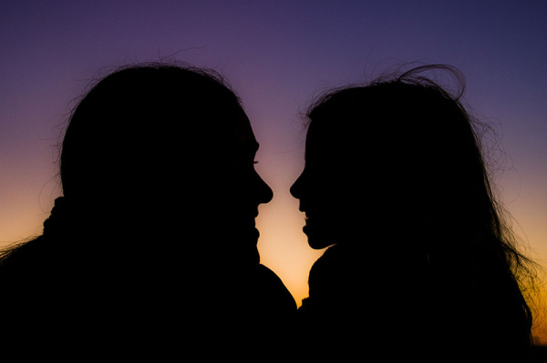 silhouettes in love #1