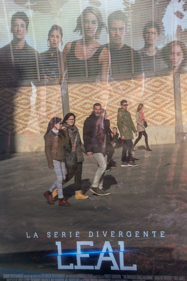street barcelona people advertising
