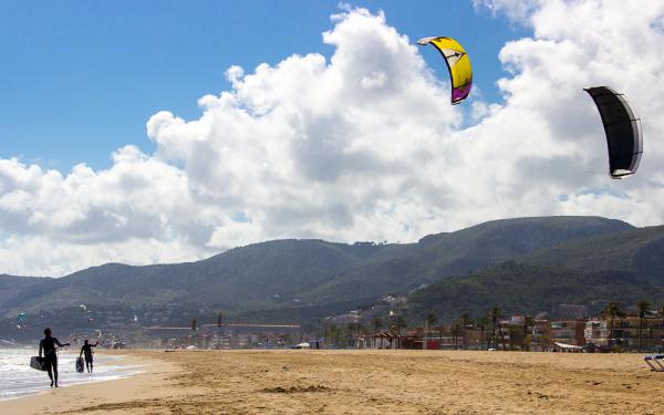 beach surfing castelldefels