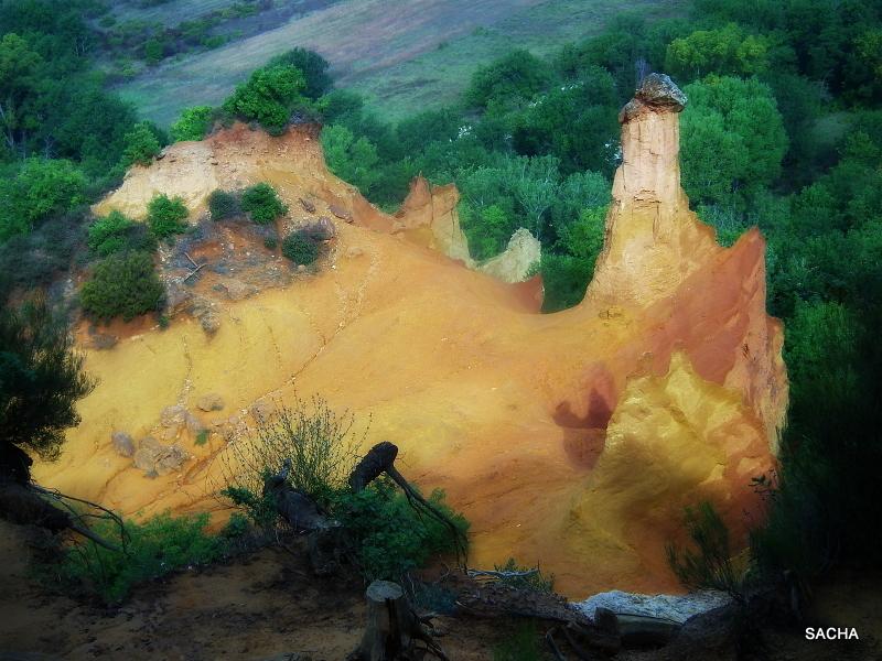 Ocres du Colorado de Rustrel  Provence